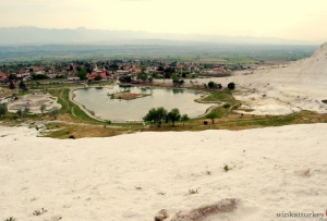 View village of Pamukkale