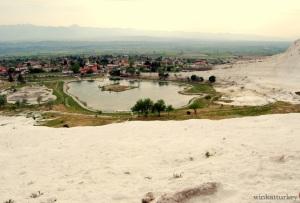 Vista de pueblo de Pamukkale