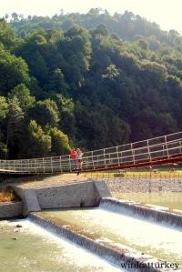 Puente colgante alrededores Üzüngöl