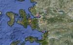 Mapa Izmir y alrededores