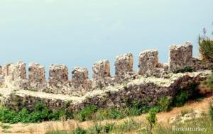 Parte de la muralla del castillo