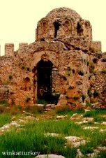 Restos en el castillo de Alanya