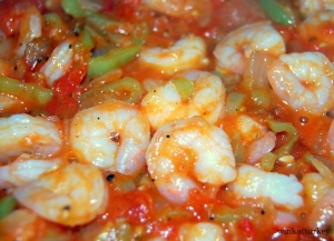 Preparation shrimp casserole