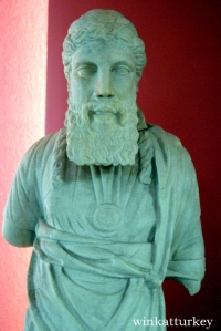 Statue of a Roman priest found Halicarnassus, Bodrum period 20 a.c-395 d.c.