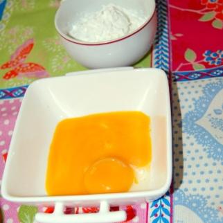 Maizena y yemas de huevo