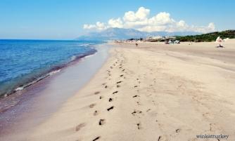 Una playa espectacular en la costa mediterránea de Turquía