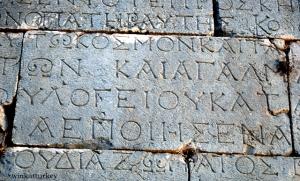 Detalles de una pared de la ciudad de Patara