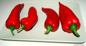 pimientos rojos frescos