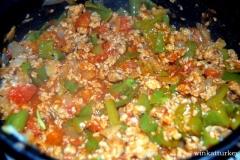 Verduras cocinandose