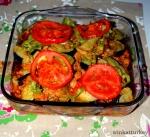 """Patlıcan oturtma """"Verduras con carne picada y berenjenas"""""""