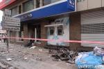 Sucursal incendiada del BankAsya
