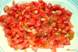 peeled and chopped tomatoes
