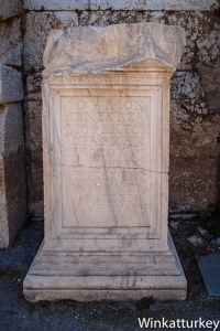 Commemorative inscription of the gladiator games that lasted five days organized by Julius Menecles Diophantus