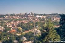 Murallas de Constantinopla al fondo