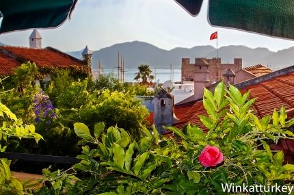 Vista desde una terraza en el casco antiguo